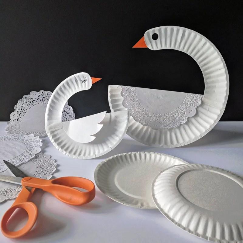 Paper Plate Craft Swan