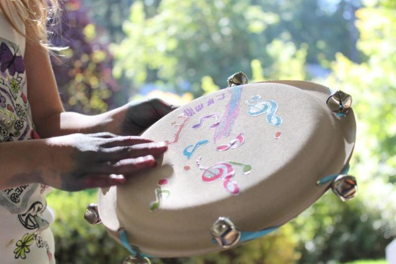 Paper Plate Craft Tambourine