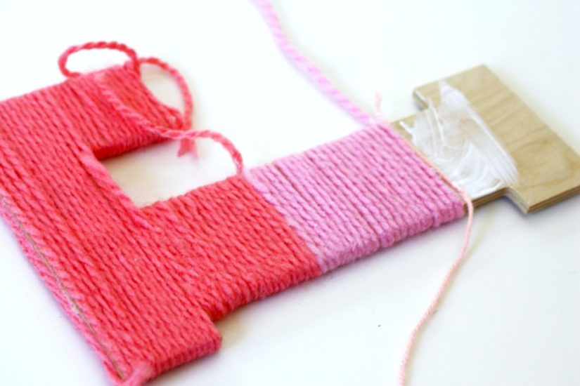 Summer Craft Yarn Letter