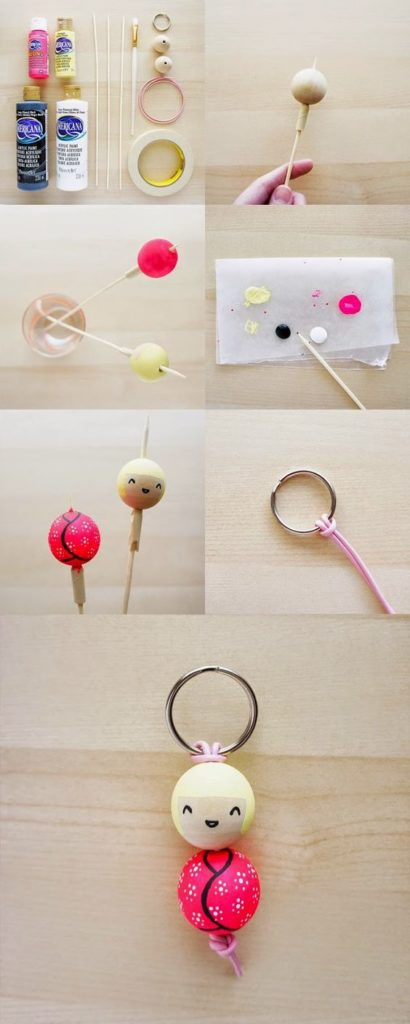 Wood Crafts for Kids Keychain
