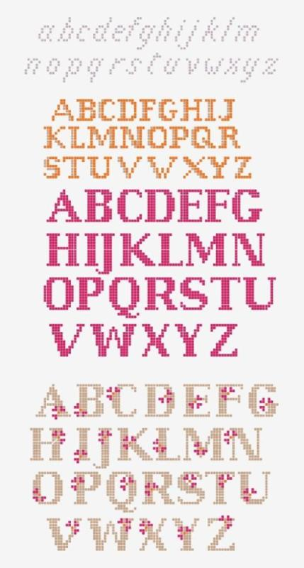 Cross Stitch Fonts Mix