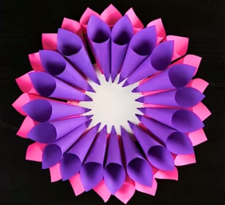 Paper Art for Kids Assembling Petals