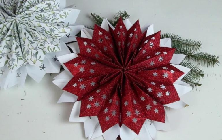 Paper Art for Kids Colorful Snowflake