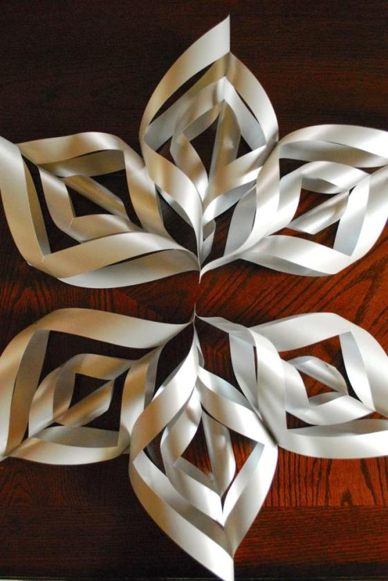 Paper Art for Kids Snowflake Tutorial Petals