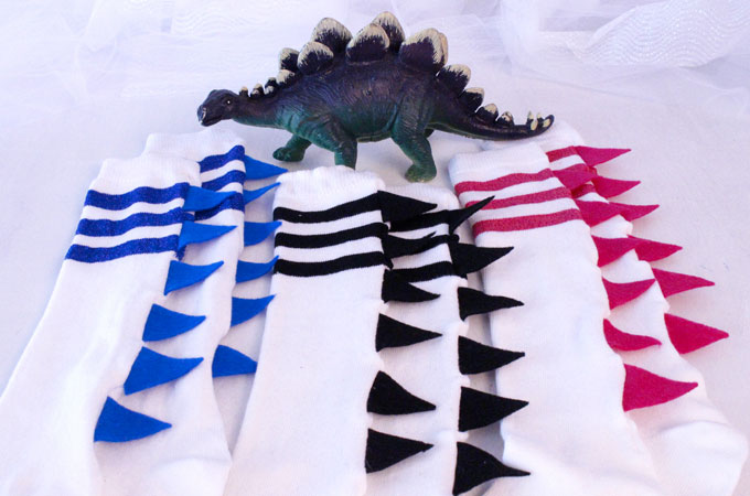 Dinosaur Craft DIY Socks