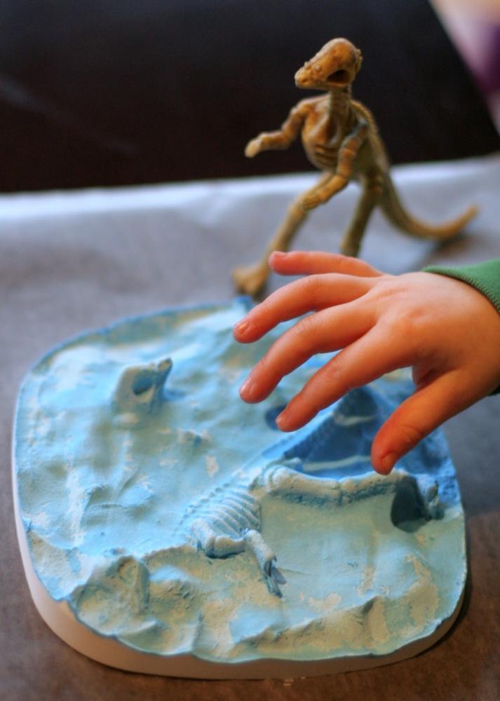 Dinosaur Craft Fossil Clay