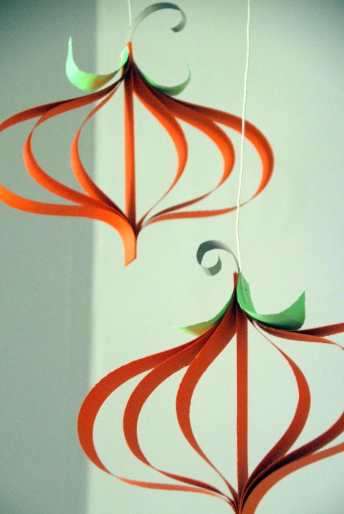 Fall Crafts Paper Pumpkin