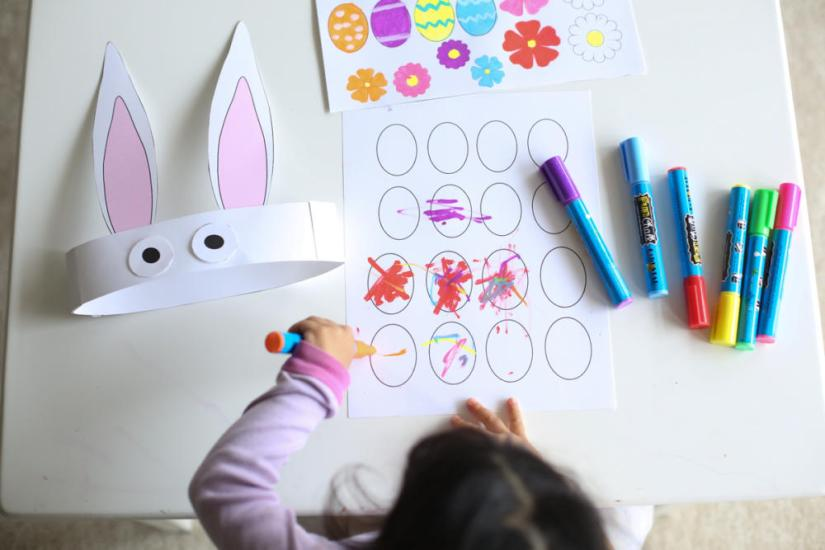 Holiday Crafts for Kids Easter Bunny Hat