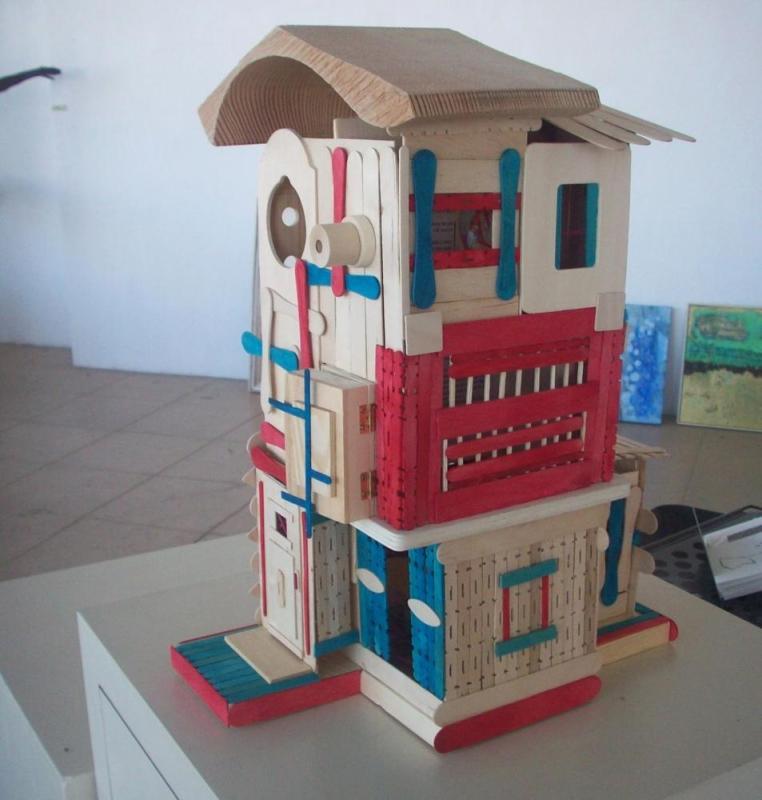 Popsicle Stick House Modern