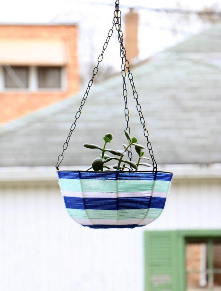 Yarn Crafts Hanging Planter