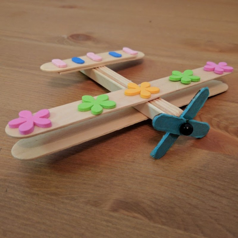 Popsicle Stick Crafts Airplane