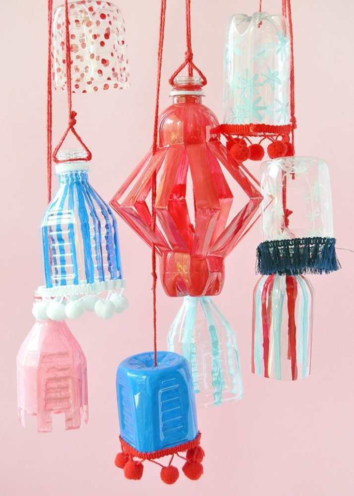 Crafts for Bottles Lanterns