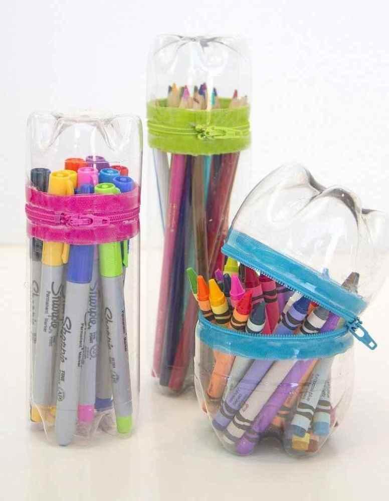 Crafts for Bottles Pencil Cases
