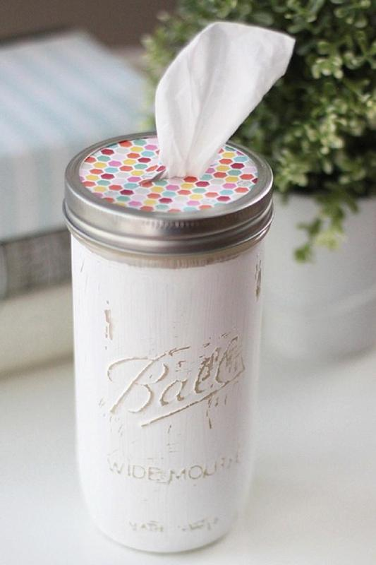 Crafts for Mason Jars Tissue Holder