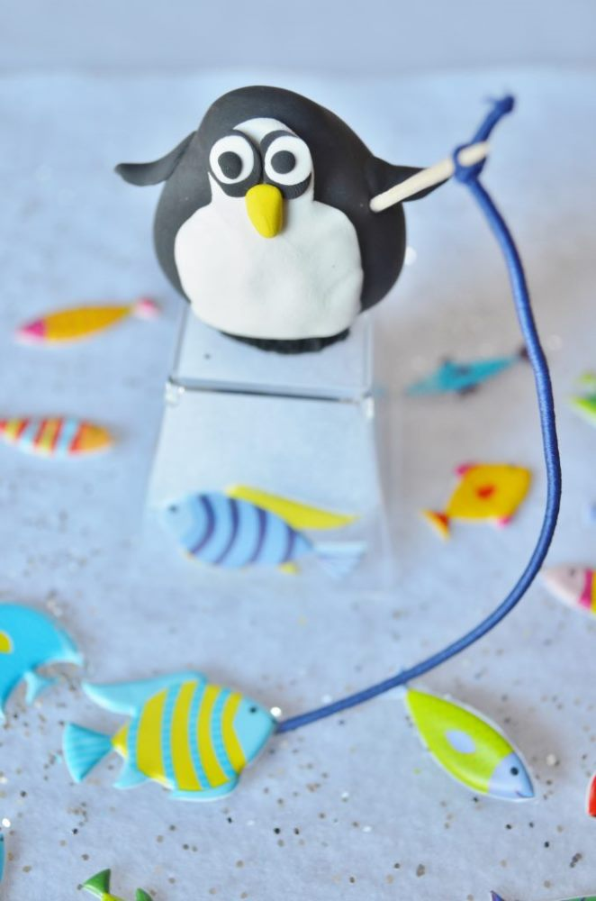 Crafts for Winter Fishing Penguin