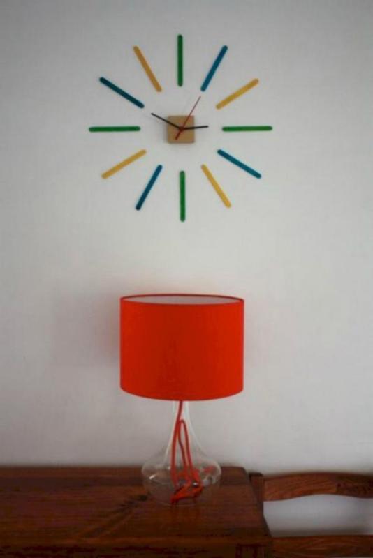 Popsicle Stick Crafts Clock