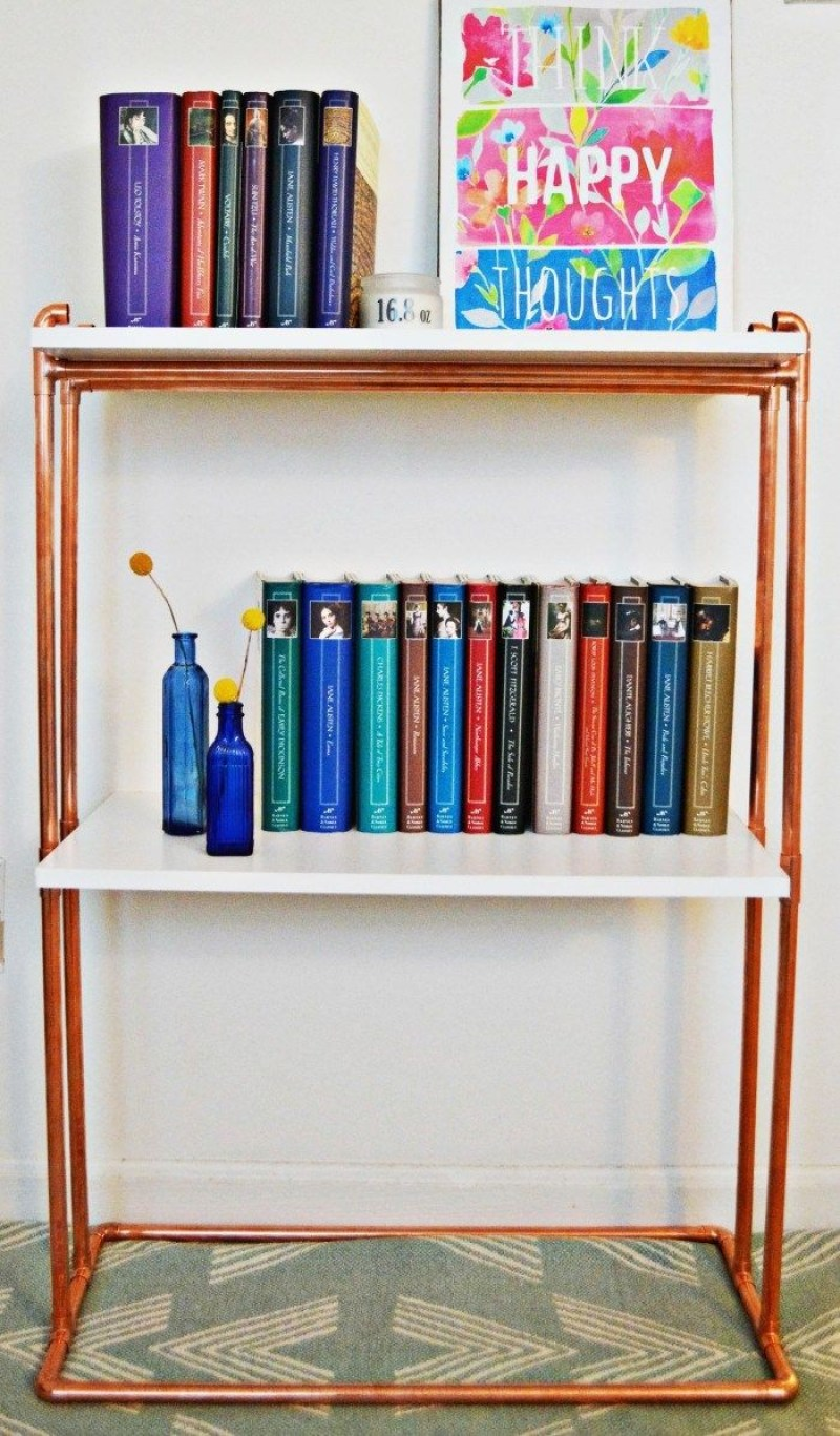 a frame ladder bookshelf diy