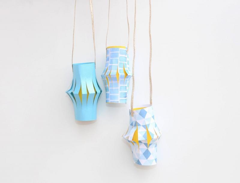 diy paper lantern cluster