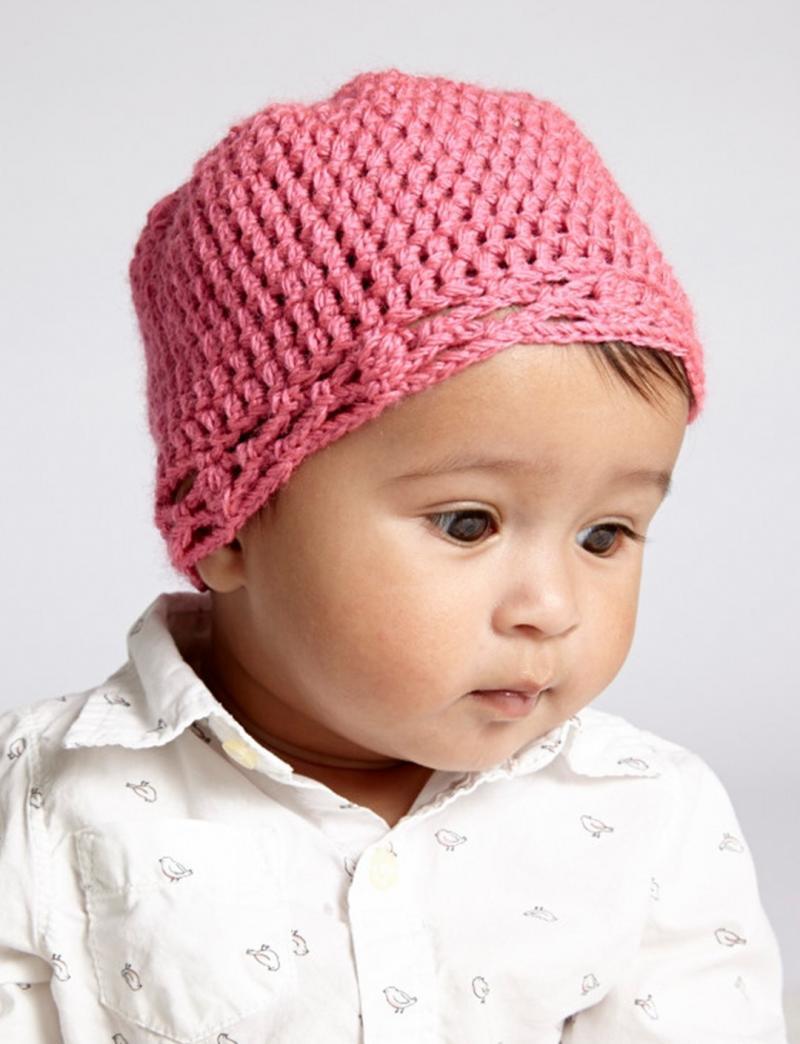 crochet baby hat bunny ears
