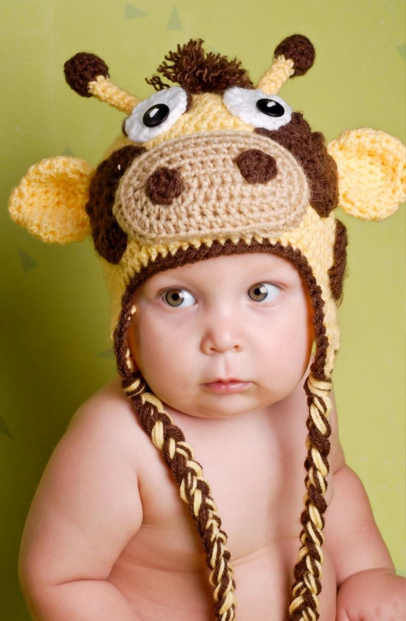 crochet baby hat circumference