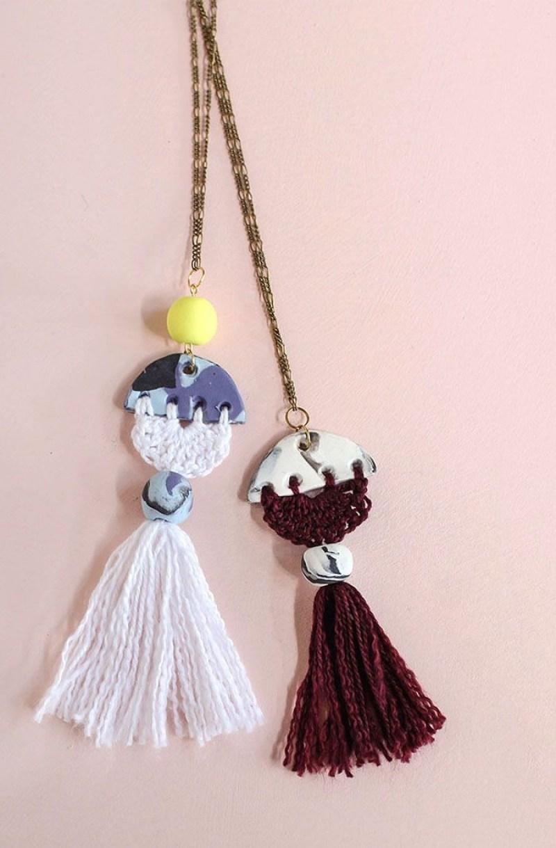 crochet necklace collar