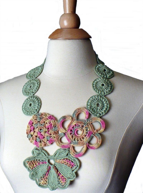 crochet necklace book