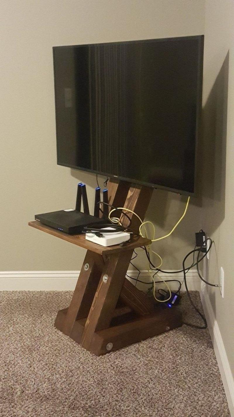 diy tv stand crates