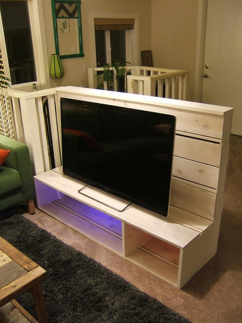 diy tv stand bookcase