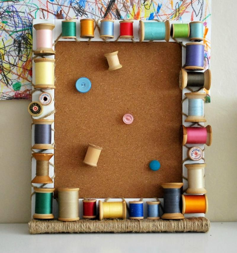 diy fabric cork board with ribbon