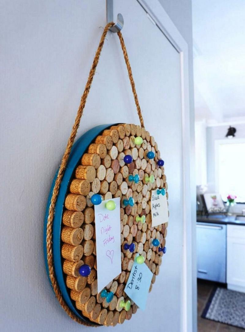 diy with cork board