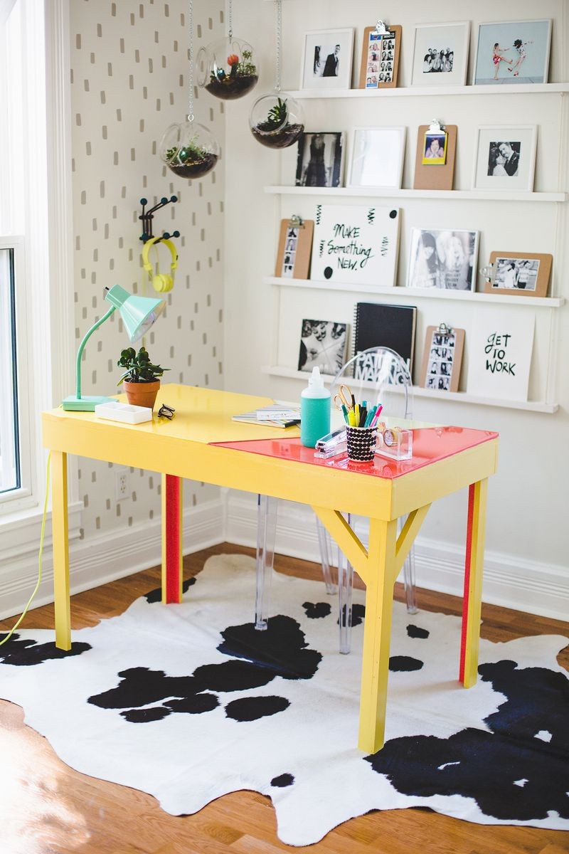 diy glass office desk
