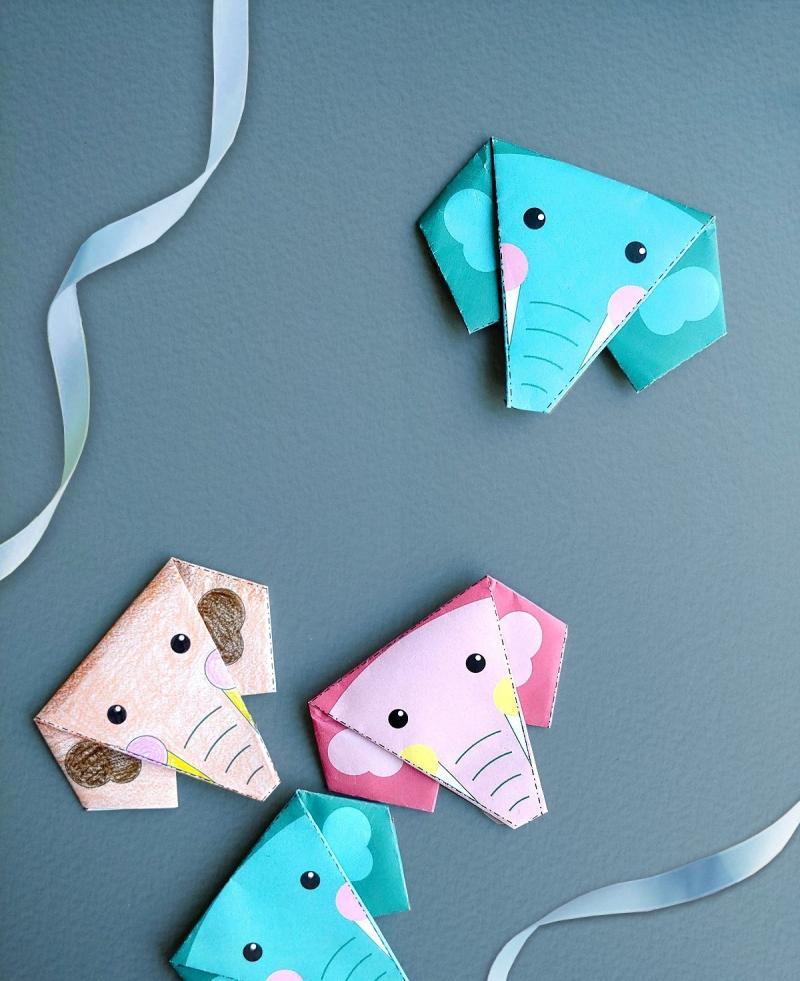 origami elefant anleitung