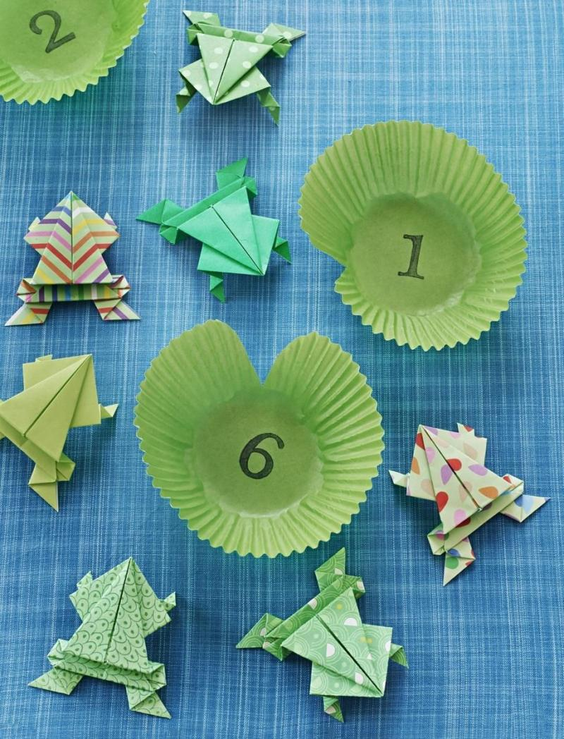 directions for origami frog