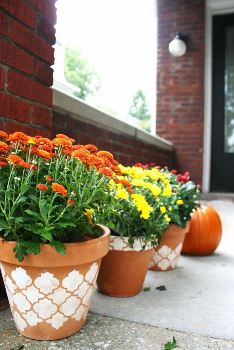diy flower bed pots