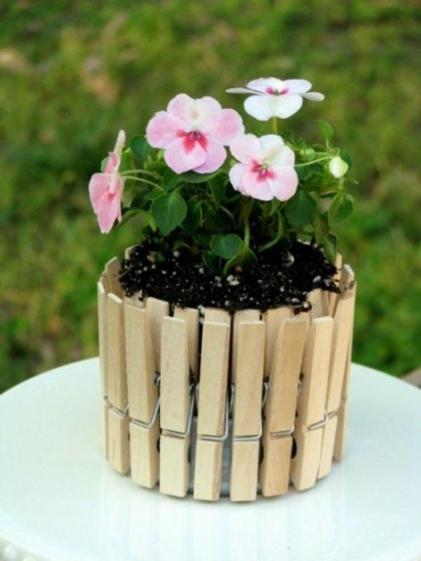 diy flower pot candy jars