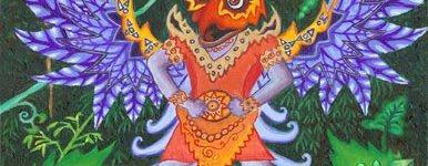 Bali Garuda - acrylic by Howard Rheingold