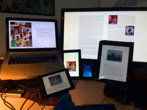 Ebook screens