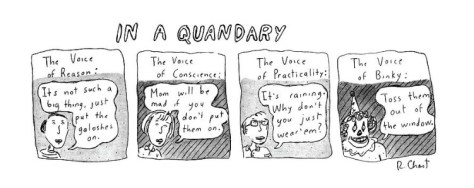 Toss them out the window! by Roz Chast