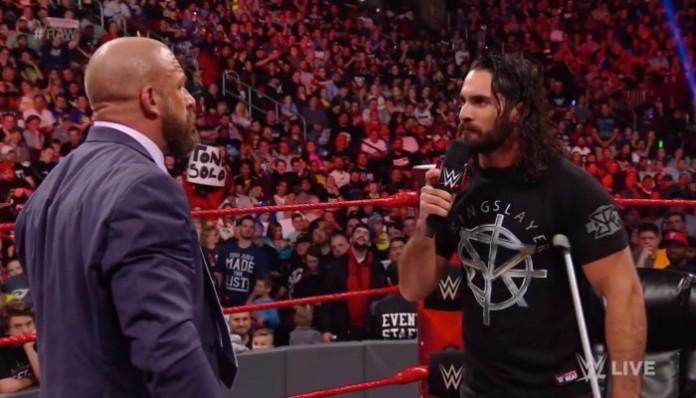 Image result for Seth Rollins vs. Triple H