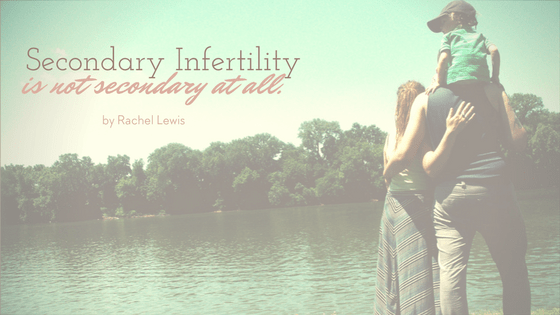 Secondary infertility is not secondary at all