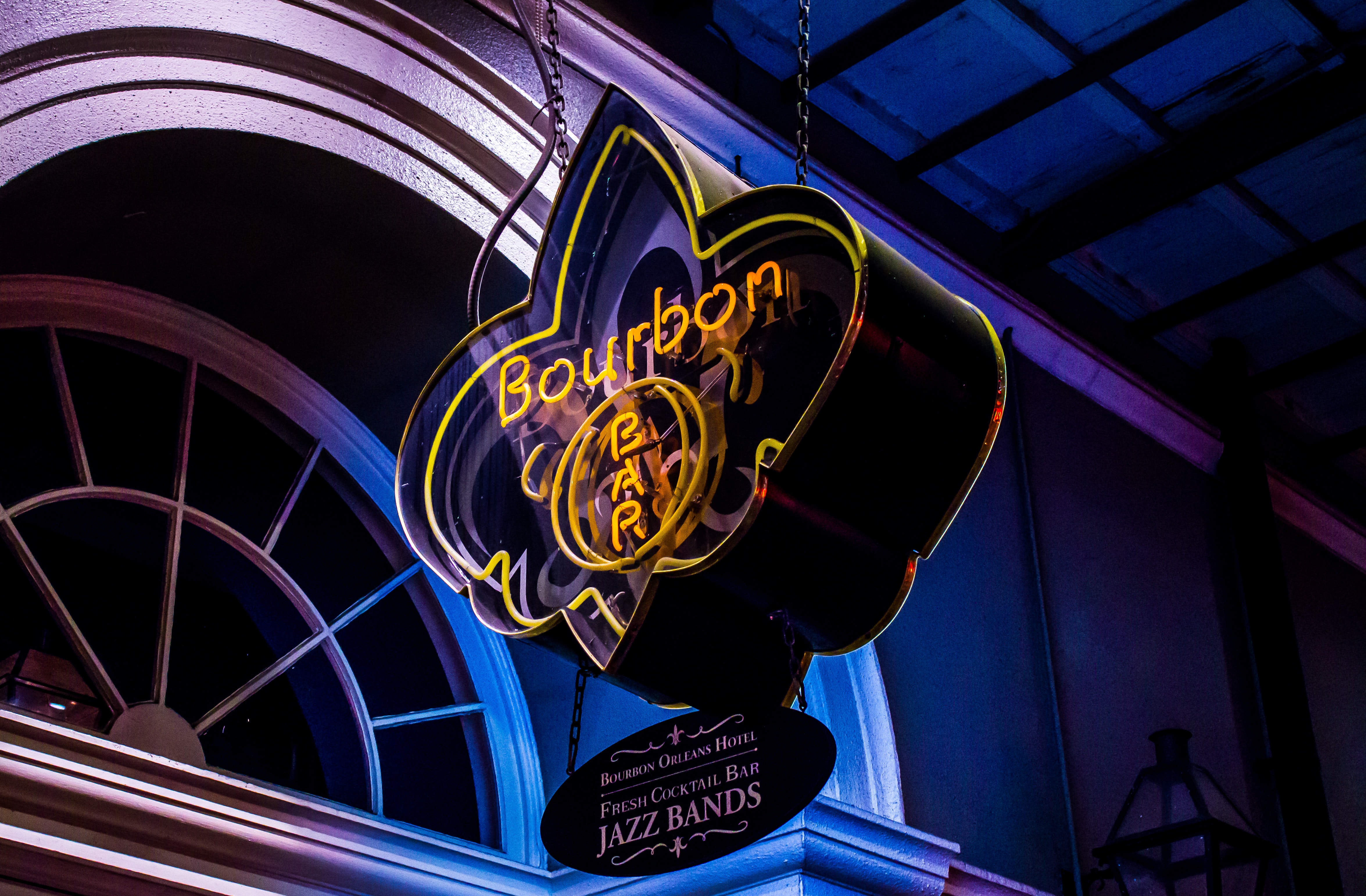 Bourbon Bar sign from New Orleans