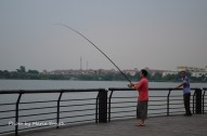 There are signs posted everywhere saying no fishing, no swimming, & no washing clothes. Fresh fish is irresistible heh...