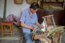 Basket Weaver in Zhou Zhuang, China