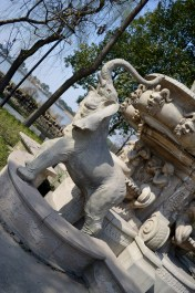 Part of the fountain
