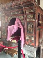 A beautiful ornate bed.