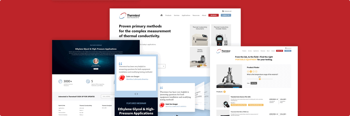 Thermtest Website Redesign Case Study
