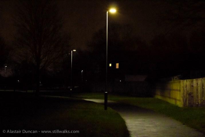 night time footpath
