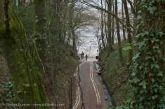 Lane from Llansteffan Castle to beach