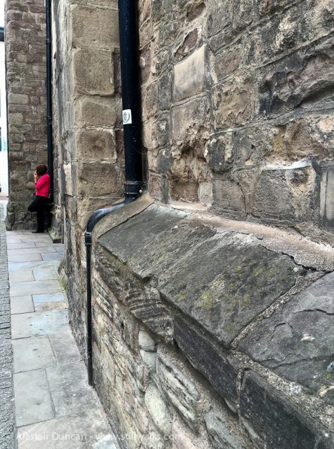 Church wall and smoker