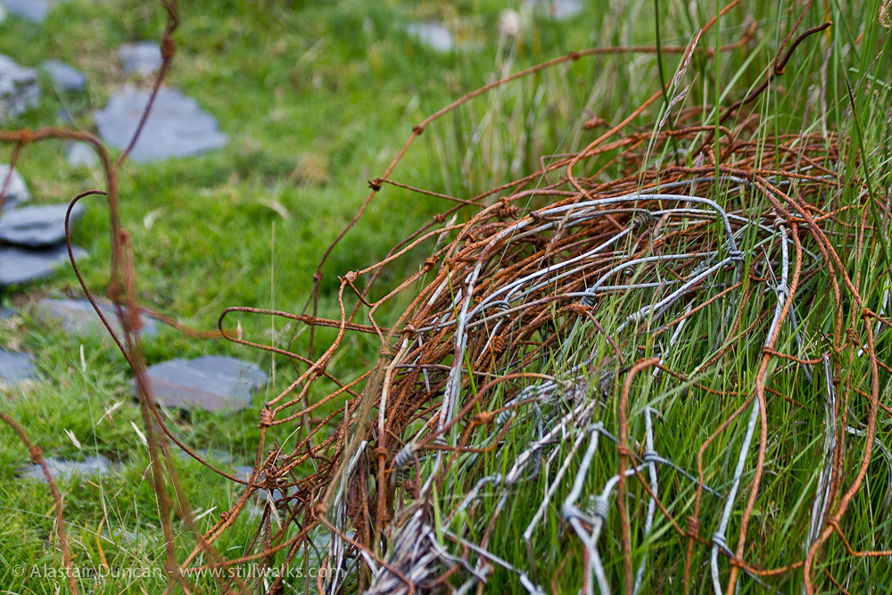 old fence wire
